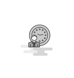 deadline web icon flat line filled gray icon vector image