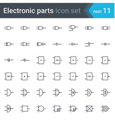 Digital electronics logic gates vector