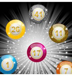Disco lottery ball background vector