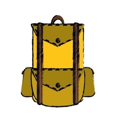 drawing backpack travel hiking equipment camping vector image