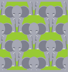 elephant seamless pattern african wild beast vector image
