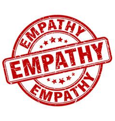 Empathy red grunge stamp vector