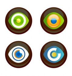 eye icons vector image