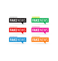 Fake news icon set vector