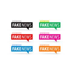 Fake news icon set vector