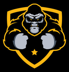 gorilla gym mascot vector image
