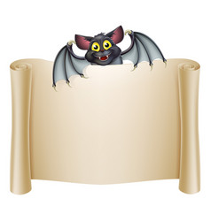 Halloween bat banner vector