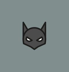 Halloween mask line style vector