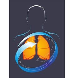 Health of their lungs vector image