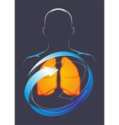 Health their lungs vector