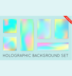 holographic background vibrant neon pastel texture vector image