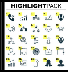 Human icons set collection of manager navigation vector