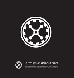 Isolated wheel icon fortune element can be vector
