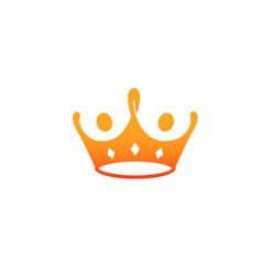 king crown red food logo vector image