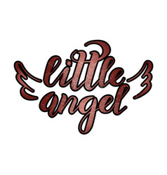 little angel with scratches vector image