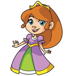 little princess on white vector image