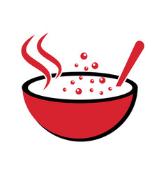 Logo for the theme soups vector