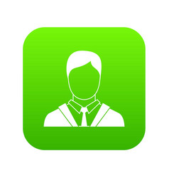 Man in business suit icon digital green vector