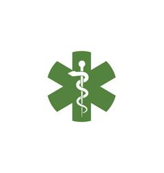 medical snake vector image