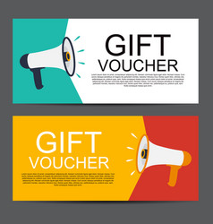 Megaphone with speech bubble gift voucher concept vector