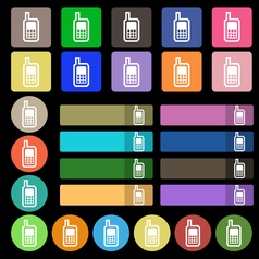 Mobile phone icon sign Set from twenty seven vector image