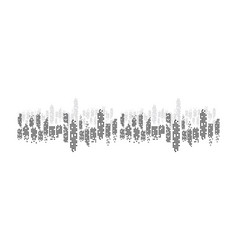 Modern city skyline city silhouette in flat vector