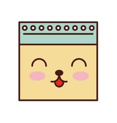 notebook sheet kawaii character vector image