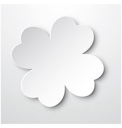 Paper Clover vector image