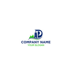 Pd lighthouse logo design vector