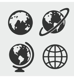 Planet symbol set vector image