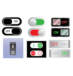power switch sign icon set on and off button vector image