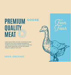 premium quality coose abstract meat vector image