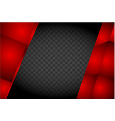 red abstract gate made cubes on a vector image