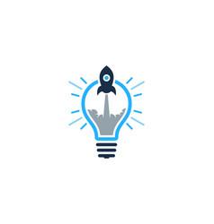 rocket idea logo icon design vector image