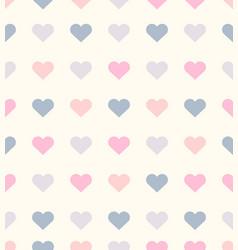 romantic heart seamless pattern vector image