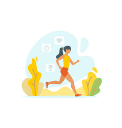 running woman outdoor vector image