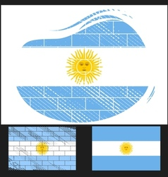 Scratched flag of Argentina vector image