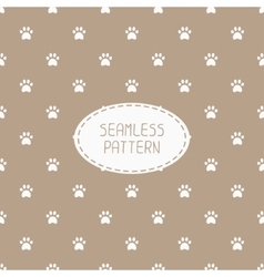 Seamless pattern with animal footprints cat dog vector image