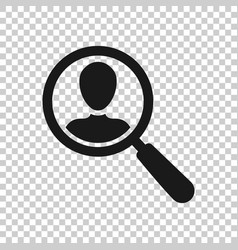 Search job vacancy icon in transparent style vector