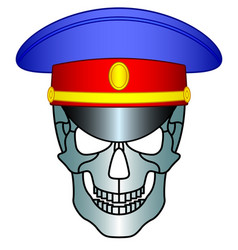 service cap and skull vector image