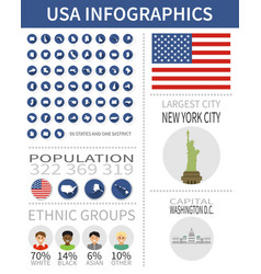 set flat design icons and infographics vector image