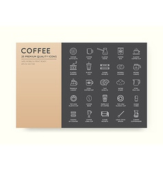 Set of Thin Coffee Elements and Coffee Accessories vector