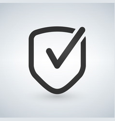 shield with checkmark symbol icon vector image