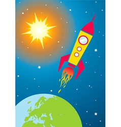 Spacecraft in space vector image