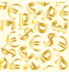 Symbols money sign vector