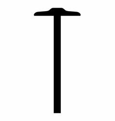 t ruler dark silhouette vector image