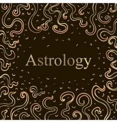 The word astrology vector