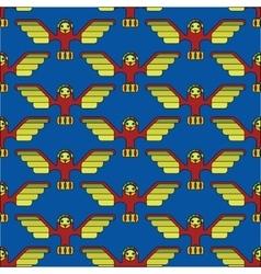 totem bird seamless pattern vector image