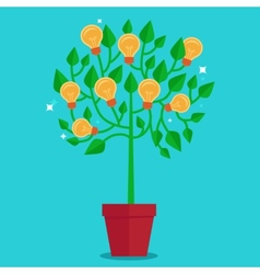 Tree concept in flat style - vector