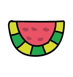 watermelon fresh fruit drawing icon vector image